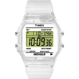 Timex - Timex 80 Clear Translucent Case and Strap Watch
