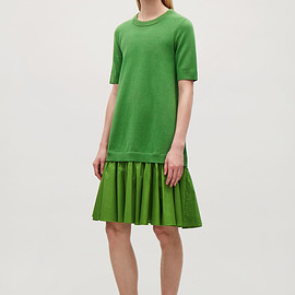 COS - panelled cotton knit dress