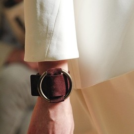 Celine - 2012SS Suede Leather Cuff