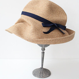 mature ha. - BOXED HAT -11cm brim grosgrain ribbon-(NV)