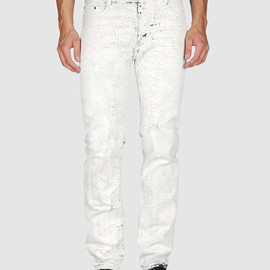MAISON MARTIN MARGIELA 10 - Painted White Denim