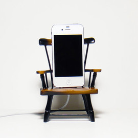 CANTERWICK - Wooden Gnome Chair Charger  for iPhone and iPod