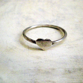 Luulla - Heart ring - Sterling silver heart ring
