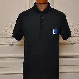 """RAF SIMONS×FRED PERRY - """"FP SHIRT with POLO COLLAR"""" col.NAVY(608) SM6151:"""