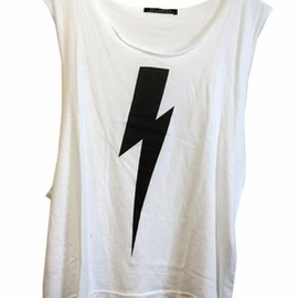 WILDFOX - Lightning Cut Off Tank in White