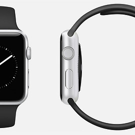 Apple - Apple watch sport 42mm Silver Aluminum Case with Black Sport Band