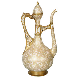 English Porcelain Ewer in the Islamic Style, 19th Century