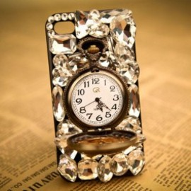 iphone case - Fashion Rhinestone Retro Watch Hard Cover Protective Case For Iphone 4/4s/5