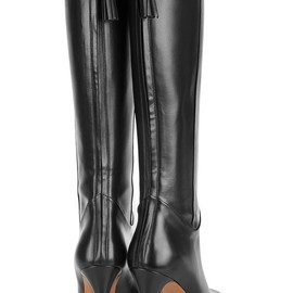 Gucci - Leather knee boots