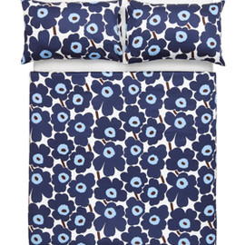 marimekko - Pieni Unikko Blue Queen Sheet Set
