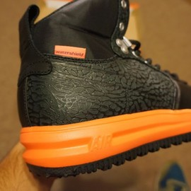 Nike - Lunar Force 1 Sneakerboots - Black/Orange