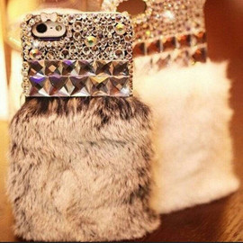 Crystal & Fluffy IPhone Case