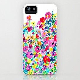 society6 - Flower Fields Pink by Amy Sia