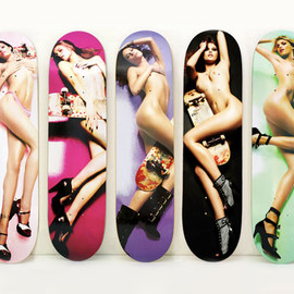 "Doodah - ""Naked Supermodels"" skateboard Decks"