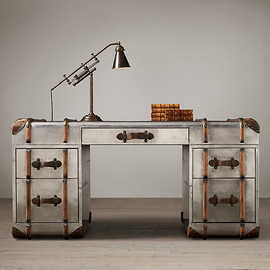 Restoration Hardware - Richards' Metal Trunk Desk