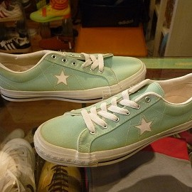 "Converse Skateboarding - 「<deadstock>90's converse ONESTAR CANVAS OX peppermint green""made in USA"" size:US9(27.5cm) 13800yen」完売"