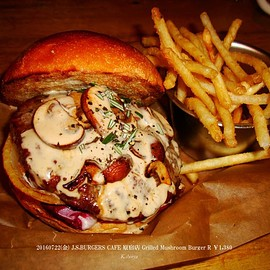 J.S BURGERS CAFE 原宿店 - Grilled Mushroom Burger Regular Patty 100g ¥1,380
