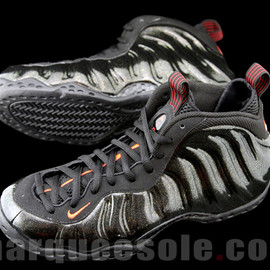 nike - Nike Air Foamposite One - Black - Red - Gold Speckle