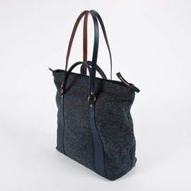 Paul Smith Women - Blue Harris Tweed Zip Top Tote Bag