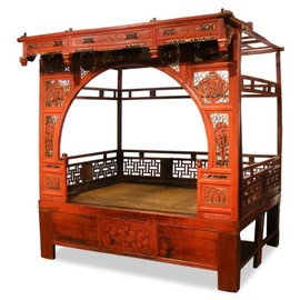 ChinaFurnitureOnline - Antique Ceremonial Canopy Bed