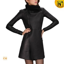 CWMALLS - Black Fur Lined Women Coat CW695102 - CWMALLS.COM