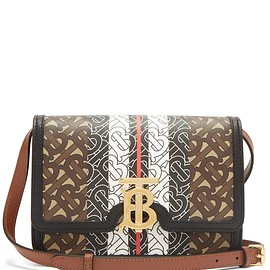 BURBERRY - TB-monogram E-canvas cross-body bag