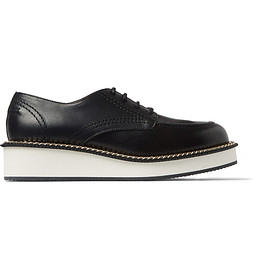 GIVENCHY - Chain-Trimmed Leather Derby Shoes