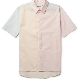MARNI - Short-Sleeved Panelled Cotton Shirt
