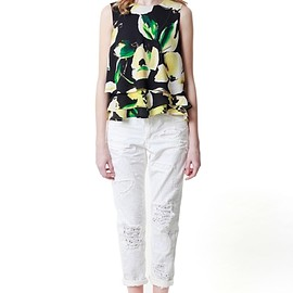 GRACE CONTINENTAL - Big flower sleeveless