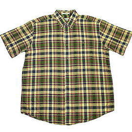 Orvis - Orvis Plaid Button Down Shirt in Yellow/Green Menswear Clothing Mens Size XL