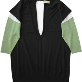 TOGA - Bicolor Knit Tunic  (black)