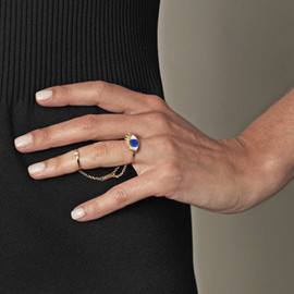 DELFINA DELETTREZ - pearl and gold-plated enamel ring