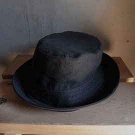 "PHINGERIN - PORK PIE HAT LINEN ""BLACK"""