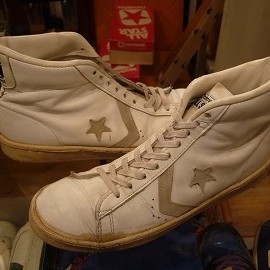 "converse - 「<used>80's converse ALLSTAR BASKETBALL MEN'S PRO HI white/natural""made in USA"" size:US10/h 16800yen」完売"