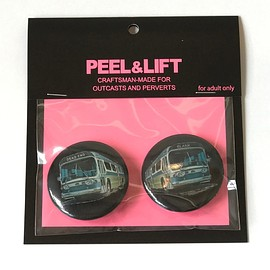 PEEL&LIFT - bus badges/black-small