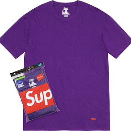 Supreme, Hanes - Tagless Tees (2 Pack) Purple