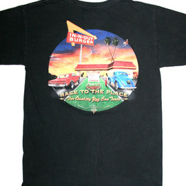 VINTAGE - Vintage 90s In N Out Burger Retro Car Shirt Mens Size Small