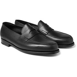 John Lobb - Grained-Leather Penny Loafers