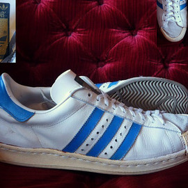 adidas - HALF SHELL(016372) WHITE/BLUE FRANCE