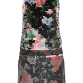 ERDEM - Ebru paillette-embellished jacquard and chiffon dress