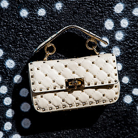 Valentino - Valentino Small Spike Leather Shoulder Bag