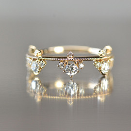 kataoka - k18 gold diamond ring