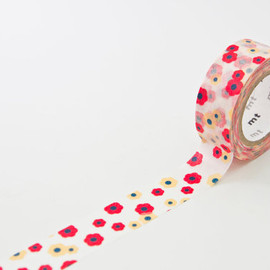 mt - MT For Kids Red Flower Japanese Washi Tape 15mm x 7 metres