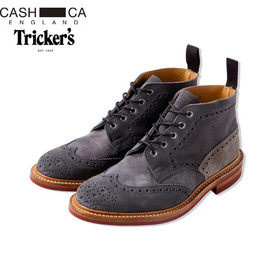 CASH CA, Tricker's - CASH CA x Tricker's Full Brogue Derby Boots