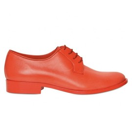 JIL SANDER - JIL SANDER DERBY LEATHER SHOES