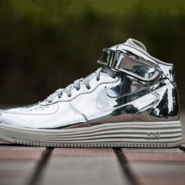 Nike - NIKE LUNAR FORCE 1 MID SP METALLIC SILVER/METALLIC SILVER-LIGHT BONE