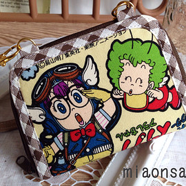 Dr Slump - Handmade ◇ Dr. Slump Arale ◇ coin & pass case