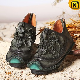 cwmalls - Ladies Handmade Ankle Boots CW350150 - cwmalls.com