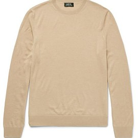 A.P.C. - Merino Wool and Silk-Blend Sweater