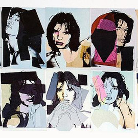 Andy Warhol - Title: Mick Jagger Card Portfolio Year: 1975